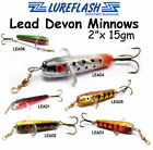 15g Weighted Devon Minnow Spinning Lures for Salmon, Sea Trout, Pike & Predators