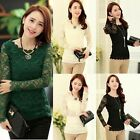 Women Lady Long Sleeve Shirt Lace Crochet Emboriey Loose Tops Blouse Reliable
