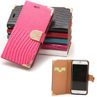 For 4.7'' iPhone 6 Luxury Book Wallet Crocodile Protect Phone Case Cover New