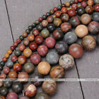 """1 Strand 15.5"""" Lovely Picasso Jasper Stone Round Loose Beads 4-14mm Jewelry DIY"""