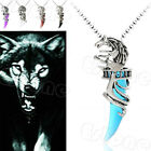 Fashion Vintage Crystal Wolf Stainless Steel Pendant Men's Necklace New Arrival