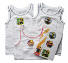 Boys Fireman Sam 3 pack vests white with logos of Sam 18m 2-3y 3-4y 4-5y