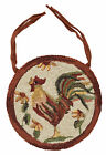 "Rooster Hooked Chair Pad by Park Designs, Country Motif, 14.5"" Diameter, Choice"