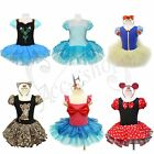 Girls Frozen Ballet Tutu Dance Wear Dress Kids Leotard Skate Skirt Party Costume