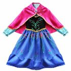 Frozen ANNA Princess Coronation Dress Up Gown Costume Girls Xmas Party Cosplay