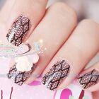 Xmas Nail art Decals Full WRAPS lace Decals Glitters Nail art DIY Decoration