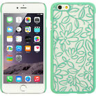 For Apple iPhone 6 4.7 TPU Flower Leaf Lace GUMMY Hard Skin Case Phone Cover