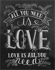 Poster / Leinwandbild All You Need Is Love - Lily & Val