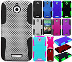 For HTC Desire 510 MESH Hybrid Silicone Rubber Skin Case Phone Cover Accessory