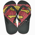Superman DC Comics Man of Steel Flip Flop Beach Men Adult Footwear Thong Sandals