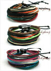 2 Unisex Handmade Hippie Color Hemp Bracelets Multi Choice & Free Shipping