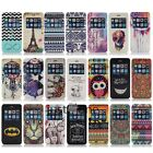 Gemalt Pattern Kunstleder View Schutzhülle Flip Etui Case f. Apple iPhone 6 Plus