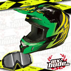 Fly Kinetic inversione Casco MotocrossMX-Bude occhiali Croce Enduro SupermotoMTB