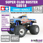 COMBO DEAL! 58518 TAMIYA SUPER CLOD BUSTER 1/10th R/C KIT RADIO CONTROL TRUCK