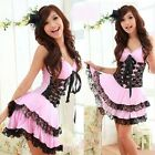 Sexy Lolita Princess Dress Costume for Cosplay/Halloween Party (Pink/Black)