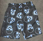 NWT CHEROKEE BOYS BOARD SHORTS! SIZE  M~BLACK & BLUE-FREE SHIP
