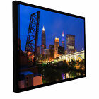 Cody York 'Cleveland 21' Floater-framed Gallery-wrapped Canvas