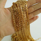factory wholesale 5/10 meters new gold 3mm oval stainless steel chains in bulk