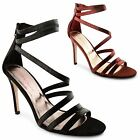 New Ladies Dolcis High Heel Metalic Effect Strappy Open Toe Sandals Size UK 3-8
