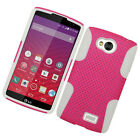 For Virgin Mobile LG Tribute LS660 MESH Hybrid Silicone Rubber Skin Case Cover