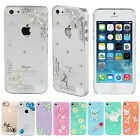 Luxury Crystal 3D Diamond Bling Back Hard Case Cover For Apple Iphone 4 4s 5 5s