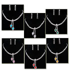 --SHINE!! New&Hot Christmas Prom Bridal Heart Necklace Earrings Set Crystal 2015