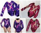 All SIZES Twist - Girls Long Sleeve Gymnastics leotard 26,28,30,32,34,36,38