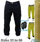 Mens Black Motorcycle Protective Jeans Full Lined Knitted Kevlar® CE - Finn Moto
