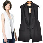 Z315 Summer/Autumn Lady's Cotton Blend Vest Occupational Casual Waistcoat