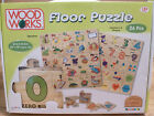 Large Childrens WOODEN FLOOR JIGSAW PUZZLE Numbers & Shapes Educational Game