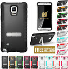 TRI-SHIELD SOFT SKIN HARD CASE STAND SCREEN PROTECTOR FOR SAMSUNG GALAXY NOTE 4