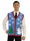 UGLY Christmas Holiday Sweater VEST Snowman Snowflake Costume M L XL