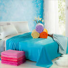 Soft Luxury Plush Solid Bed Sleep Blankets & Throws Flat