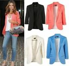 2015 New Womens Ladies Candy Colors Stylish Suit Jacket Blazer Coat 6 8 10 12