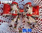 DISNEY MINNIE MOUSE PRINT DUCK DUCT TAPE DOUBLE BOW HAIR BARRETTE AUTO CLASP