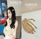 Fashion Personality alloy crystal Skeleton hands hairpin