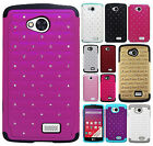 For Virgin Mobile LG Tribute LS660 HYBRID IMPACT Dazzling Diamond Case Cover