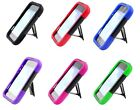 T -Stand Hybrid Armor Case Phone Cover Accessory for Net10 ZTE Z667G Whirl 2 II