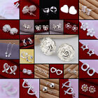 1Pair Fashion Elegant 925 Sterling Silver Stud Earrings Womens Gift 26 Styles