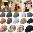 Men Women Beret Newsboy Cabbie Gatsby Flat Peaked Baker Hat Golf Driving Cap