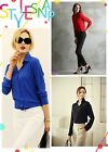 New Fashion Women Chiffon Tops Long Sleeve Button Down Shirt Casual Blouse-CB