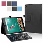 For Google Nexus 9 PU Leather Case Flip Cover+Bluetooth 3.0 Keyboard New