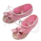 Pink Butterfly Ballet Shoes Canvas Kids Girl Dance Party Gymnastics Slippers NEW