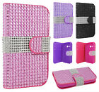 For Alcatel ONETOUCH Evolve 2 Bling Diamond Wallet Case Flip Pouch Phone Cover
