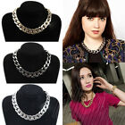 Fashion Jewelry Women's Chain Chunky Statement Bib Choker Necklace Bracelet Set
