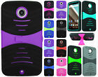 For Motorola Nexus 6 HYBRID Hard Gel Rubber KICKSTAND Case Phone Cover Accessory