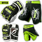 MMA Grappling Gloves UFC Cage Fight Kickboxing MRX Training Shorts Gear Bag Mitt