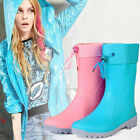 Fashion low heel removable liner sleeve cotton warm waterproof boots shoes