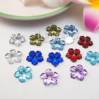 50 Peony Flower Flatback Rhinestone Scrapbooking Craft DIY Favor Decoration