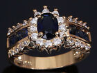 Women's Simulated Sapphire 6ct  Cut AAA CZ  Engagement Ring Sz ,6,7,8,9,